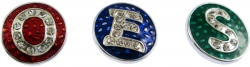 View Buying Options For The Eastern Star 3 Letter Snap-On Button Set