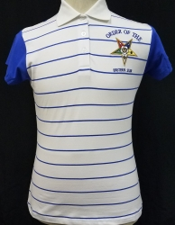 View Buying Options For The Buffalo Dallas Eastern Star Striped Mens Polo Shirt with Contrasting Sleeves
