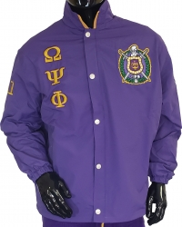 View Buying Options For The Omega Psi Phi Fraternity Mens All-Weather Windbreaker Jacket