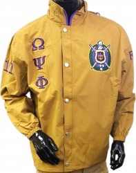 View Buying Options For The Buffalo Dallas Omega Psi Phi Fraternity Mens All-Weather Windbreaker Jacket