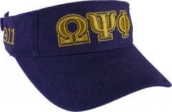 View Buying Options For The Omega Psi Phi Mens Sun Visor