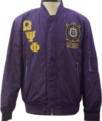 View Buying Options For The Buffalo Dallas Omega Psi Phi Mens Bomber Style Jacket