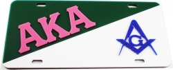 View Buying Options For The Alpha Kappa Alpha + Mason Split License Plate
