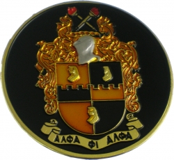 View Buying Options For The Alpha Phi Alpha Shield Round Car Badge