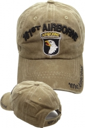 View Buying Options For The 101st Airborne Washed Cotton Mens Cap