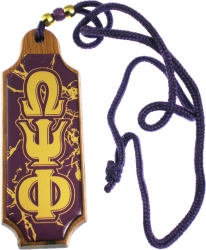 View Buying Options For The Omega Psi Phi Domed Wood Medallion