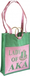 View Buying Options For The Alpha Kappa Alpha Lady of AKA Pocket Jute Shopping Bag