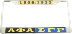 View Buying Options For The Alpha Phi Alpha + Sigma Gamma Rho Split License Plate Frame