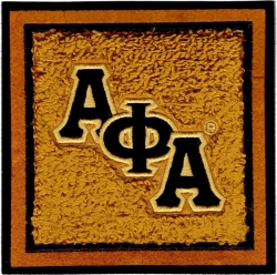View Buying Options For The Alpha Phi Alpha Chenille Drink Coaster Set