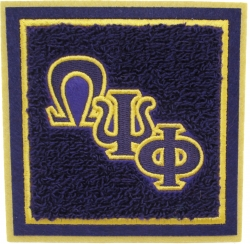 View Buying Options For The Omega Psi Phi Square Chenille Sew-On Patch
