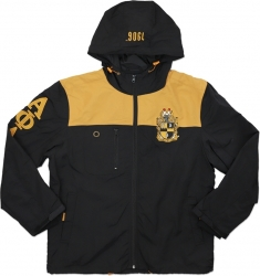 View Buying Options For The Big Boy Alpha Phi Alpha Divine 9 S5 Hooded Mens Windbreaker Jacket