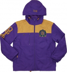 View Buying Options For The Big Boy Omega Psi Phi Divine 9 S5 Hooded Mens Windbreaker Jacket