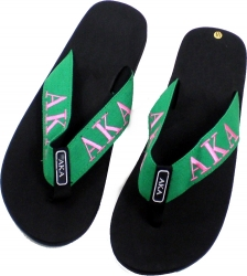 View Buying Options For The Alpha Kappa Alpha Ladies Thong-Style Flip Flop Sandals