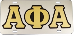 View Buying Options For The Alpha Phi Alpha Outlined Mirror License Plate