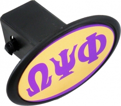 View Buying Options For The Omega Psi Phi Mirror Domed Trailer Hitch Cover