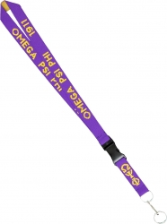 View Buying Options For The Omega Psi Phi Woven Lanyard Keychain