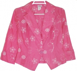 View Buying Options For The Flower Print Cuffed Sleeve Junior Womens Jacket Style Top