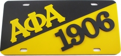 View Buying Options For The Alpha Phi Alpha 1906 Split License Plate