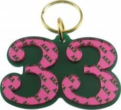 View Buying Options For The Alpha Kappa Alpha Color Mirror Line #33 Keychain