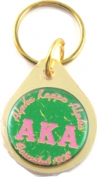 View Buying Options For The Alpha Kappa Alpha Small Tear Drop Domed Mirror Keychain