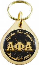 View Buying Options For The Alpha Phi Alpha Small Tear Drop Domed Mirror Keychain