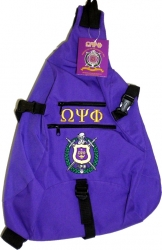 View Buying Options For The Omega Psi Phi Escutcheon Shield Sling Backpack
