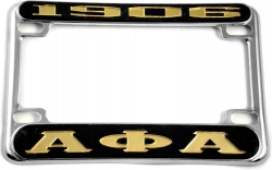 View Buying Options For The Alpha Phi Alpha 1906 Motorcycle License Plate Frame