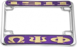 View Buying Options For The Omega Psi Phi 1911 Motorcycle License Plate Frame