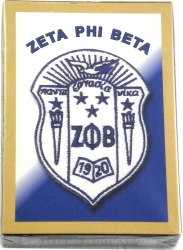 View Buying Options For The Zeta Phi Beta Crest Playing Card Deck