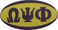 View Buying Options For The Omega Psi Phi Mirror Domed Decal Sticker