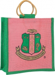 View Buying Options For The Alpha Kappa Alpha Crest Ladies Mini Jute Gift Bag