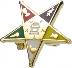 View Buying Options For The Eastern Star Symbol Small Lapel Pin