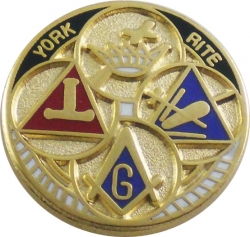 View Buying Options For The York Rite Symbols Lapel Pin