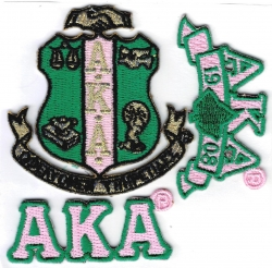 View Buying Options For The Alpha Kappa Alpha 3-Pack A Embroidered Stick-On Applique Patches