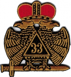 View Buying Options For The 33rd Degree Wings Down Iron-On Patch