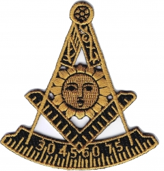 View Buying Options For The Mason Past Master Symbol Iron-On Patch