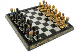 View Buying Options For The Egyptian Themed Chess Set