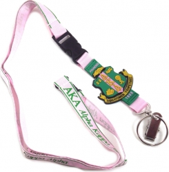 View Buying Options For The Alpha Kappa Alpha PVC Crest Lanyard Keychain