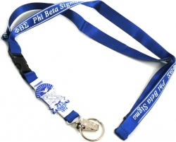 View Buying Options For The Phi Beta Sigma PVC Shield Lanyard Keychain