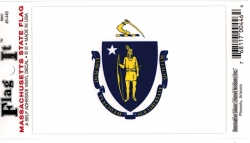 View Buying Options For The Massachusetts State Flag Car Decal Sticker [Pre-Pack]