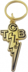 View Buying Options For The Elvis Presley TCB Logo Cut-Out Epoxy Keychain