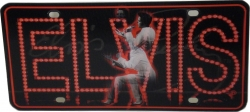 View Buying Options For The Elvis Presley Vegas Lights Lenticular Hologram Car Tag License Plate