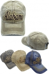 View Buying Options For The Alabama Stitch Washed Cotton Vintage Mens Cap