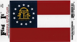 View Buying Options For The Georgia State New Flag Car Decal Sticker [Pre-Pack]