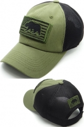 View Buying Options For The California Bear US Flag Patch Soft Mesh Mens Cap