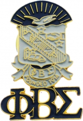 View Buying Options For The Phi Beta Sigma Shield Drop Letter Lapel Pin