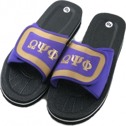 View Buying Options For The Omega Psi Phi Strapped Mens Flip Flop Sandals