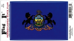 View Buying Options For The Pennsylvania State Flag Car Decal Sticker [Pre-Pack]
