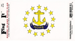 View Buying Options For The Rhode Island State Flag Car Decal Sticker [Pre-Pack]