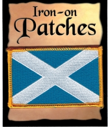 View Buying Options For The Scotland Cross Flag Iron-On Patch [Pre-Pack]